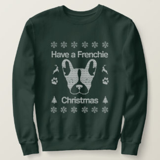 Have A Frenchie Christmas Off-Shoulder Sweater. Sweatshirt