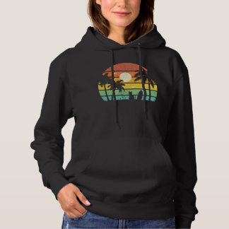 Hawaii Funny Surfing Cat Holiday Hoodie