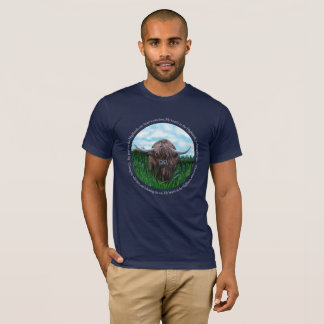 Highland Cow, My Heart's In The Highlands T-Shirt