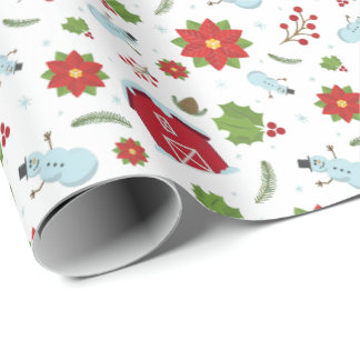Holiday Barn Wrapping Paper (Bright)