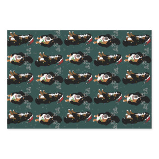 Holiday Christmas Bernese Mountain Dog  Wrapping Paper Sheets