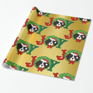 Holiday Christmas Bernese Mt Dog Joy Wrapping Paper