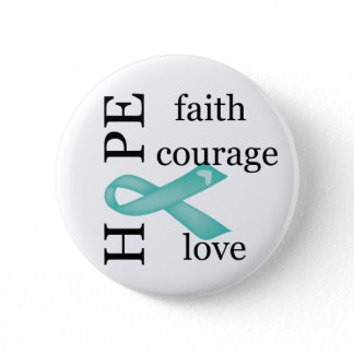 Hope (Teal) Pinback Button