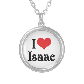 I Love Isaac Silver Plated Necklace