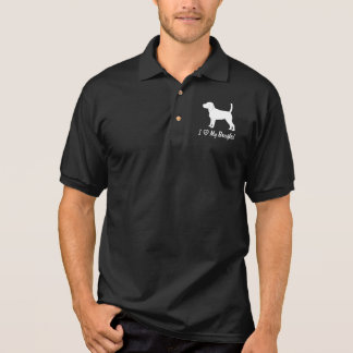 I Love My Beagle in Silhouette Polo Shirt