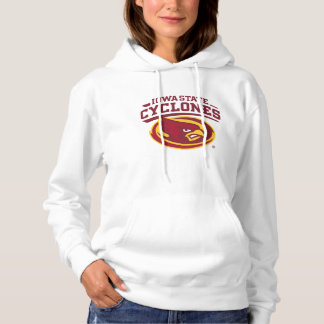 Iowa State Cyclones   Arched Mascot Logo Hoodie