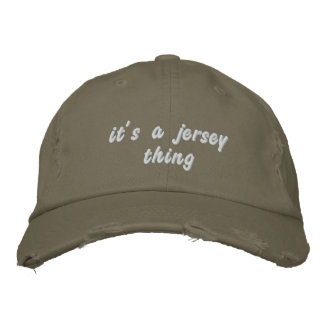 """""""It's a Jersey Thing"""" Distressed Baseball Cap"""