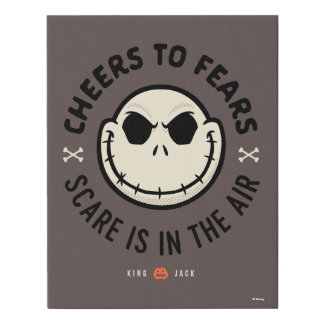 Jack Skellington - Cheers To Fears Faux Canvas Print