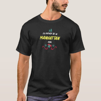 Kansas Id Rather Be In Manhattan For Christmas T-Shirt