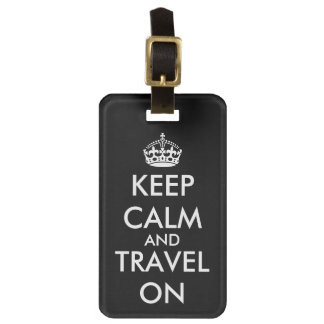 KeepCalm and travel on luggage tag   Custom label