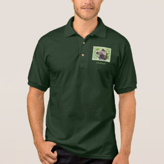 Keeshond Puppy in the Garden Painting Original Art Polo Shirt
