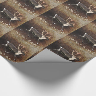 Kuvianak Innovia - Bull Caribou (Reindeer) Wrapping Paper