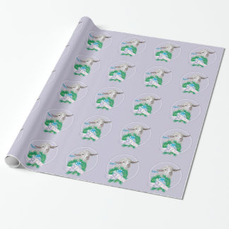 Lavender Angora Goat Christmas Wrapping Wrapping Paper