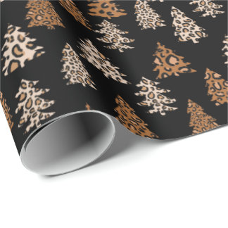 Leopard Print Christmas wrapping paper
