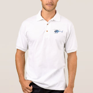 Light Blue Helicopter Polo Shirt