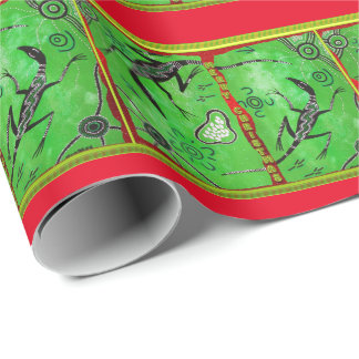 Lizard Dreaming Christmas Wrapping Paper