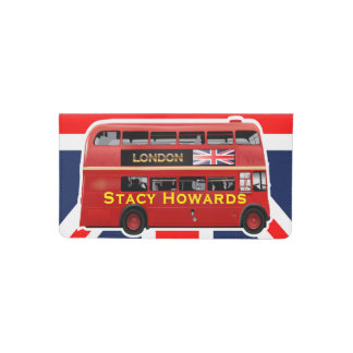 London's Famous Red Bus Checkbook Cover
