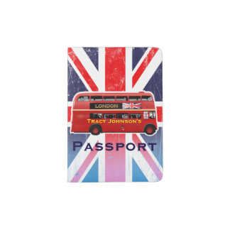 London's Famous Red Bus Passport Holder