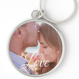 Love Personalized Photo Couple's Key chain