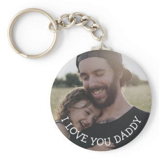 Love you Daddy, Personalized Photo Key Chain