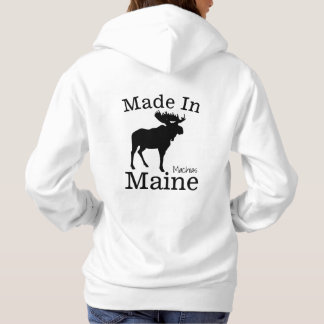 Made in your town, Your State Moose Hoodie