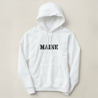 Maine Embroidered Hoodie