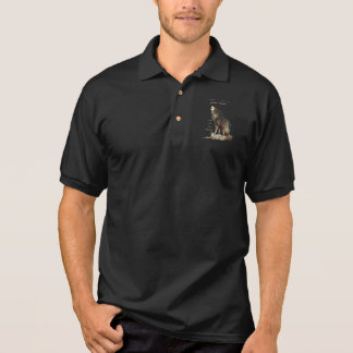 Many great voices Inspirational Wolf Quote Polo Shirt