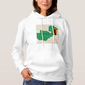 Map Of Zambia Hoodie