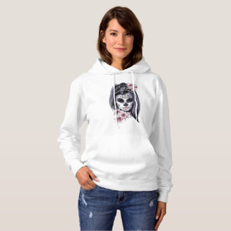 Mask Carnival Day of the Dead Floral Woman Hoodie