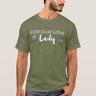 Men's dark For Our Love of Lady Rescue tee