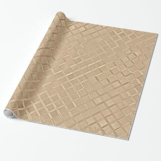 Metallic Champagne Pattern Wrapping Paper