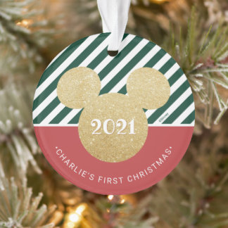 Mickey Mouse | My First Christmas - Red and Green Ornament