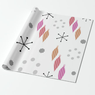 Mid Century Modern Winter Wrapping Paper