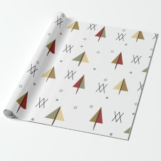 Mid Century Snowy Forest Wrapping Paper