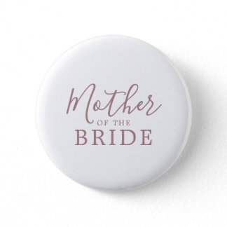Minimal RoseGold Mother of the Bride Bridal Shower Button