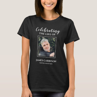 Modern Celebration Of Life With Picture Memorial T-Shirt