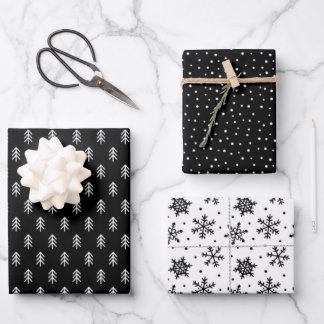 Modern Christmas Tree holiday wrapping paper