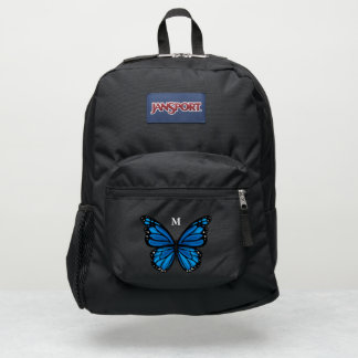 Monogram Name Pick Any Color Monarch Butterfly JanSport Backpack