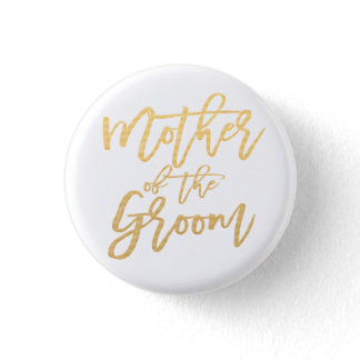 Mothe of the groom calligraphy button