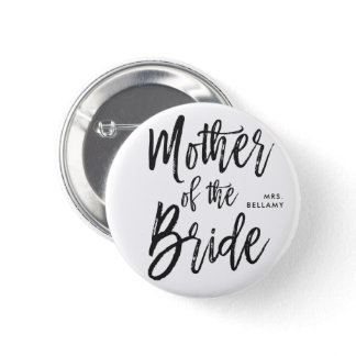 Mother of the Bride   Script Style Custom Wedding Button