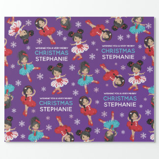 Multicultural Christmas Ballerina Wrapping Paper