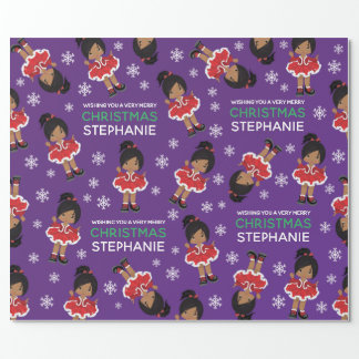 Multicultural Christmas Dancer Wrapping Paper