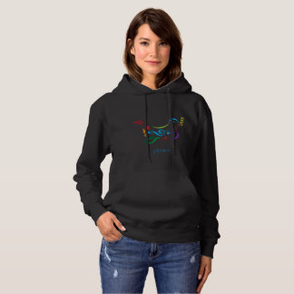 Musical Peace Dove Design on a Quality Hoodie