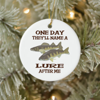 Name a Lure After Me Ceramic Ornament