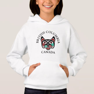 Native American Red Black Vector Graphics Kitty Hoodie