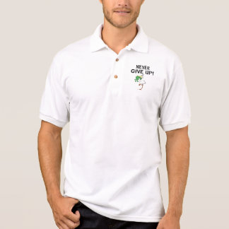 Never Give Up Motivational Pelican and Frog Polo Shirt