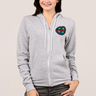 New Mexican and Native Zia Sun God Symbol Hoodie