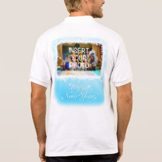 New Year Design! Stars in the Blue Sky. Add photo. Polo Shirt