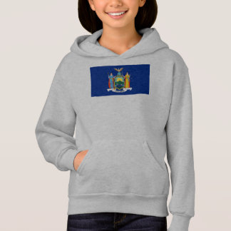 New York The Empire State Flag Coat of Arms Hoodie
