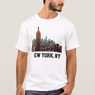 NY City Skyline Empire State Building, LM 7 T-Shirt
